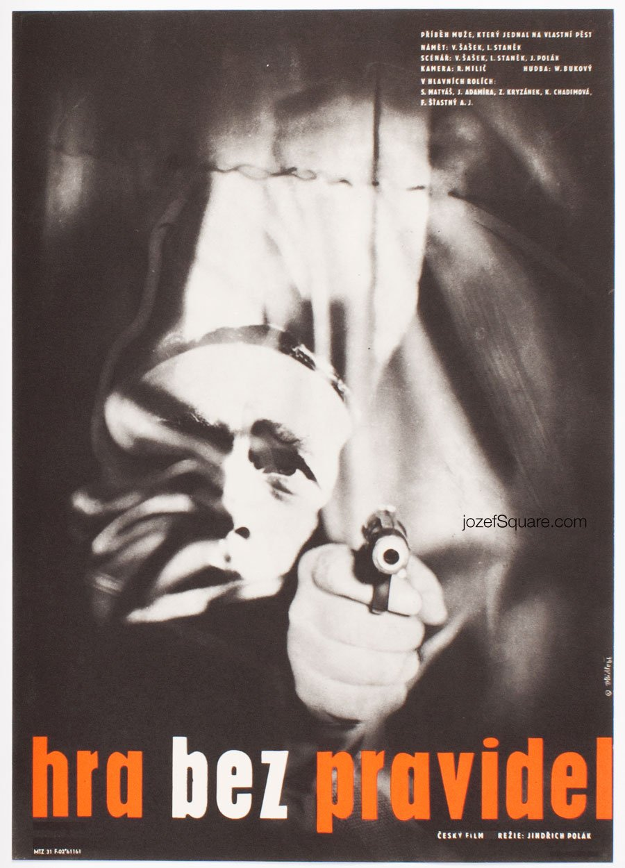 Movie Poster, Game Without Rules, Vladimir Bidlo