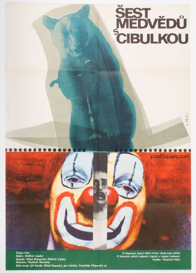 Movie Poster, Six Bears and Clown, Vladimir Bidlo