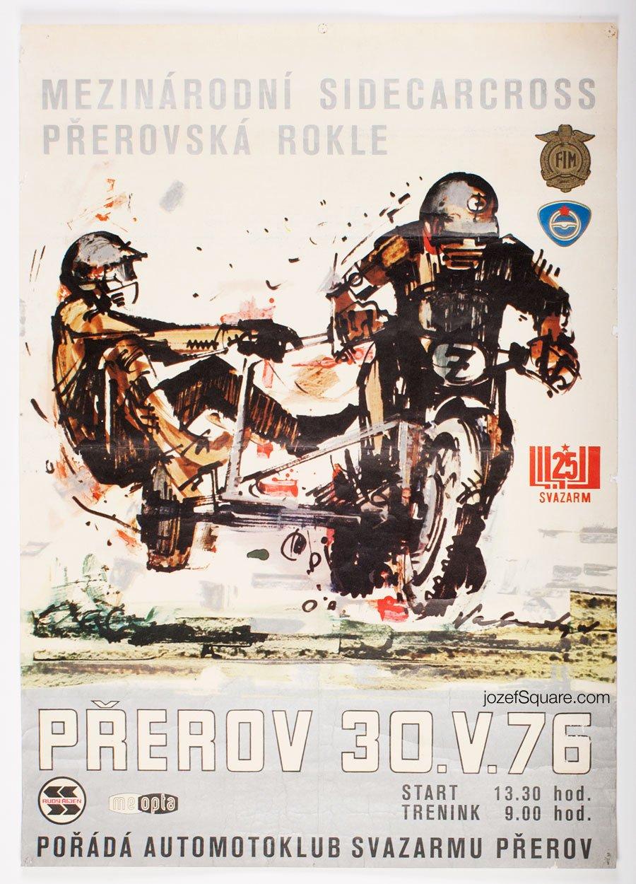 Racing Poster, International Sidecarcross Championship, Vladimír Valenta