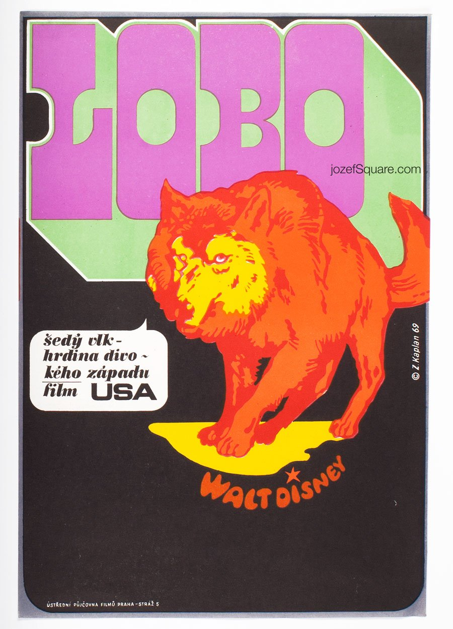 Movie Poster, The Legend of Lobo, Zdenek Kaplan, Walt Disney