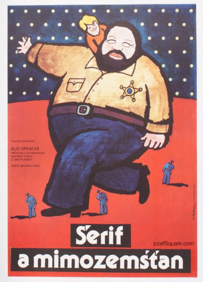 Movie Poster, Sheriff and Satellite Kid, BUd Spencer, Jan Tomanek