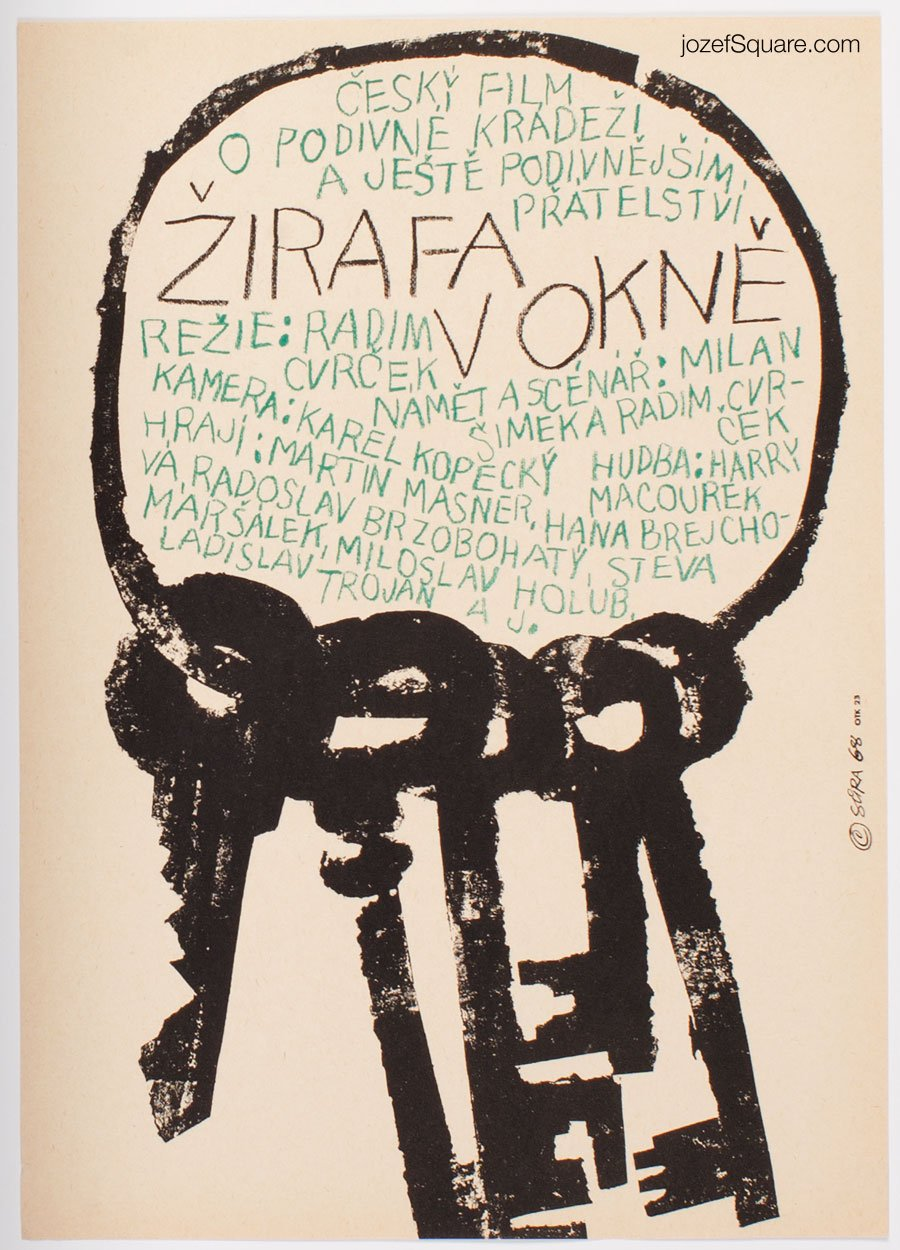 Movie Poster, Giraffe in the Window, Jaroslav Sura