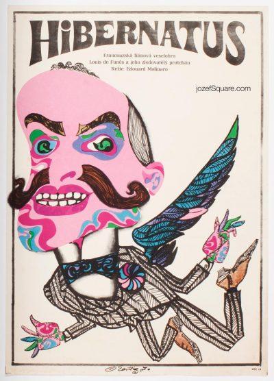 Movie Poster, Hibernatus, Karel Teissig