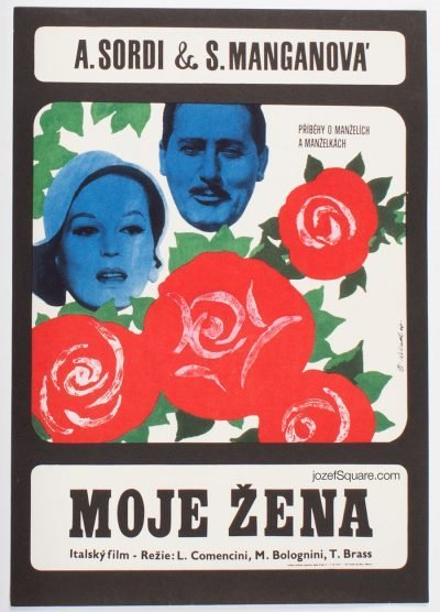 Movie Poster, My Wife, Alberto Sordi, Milos Reindl