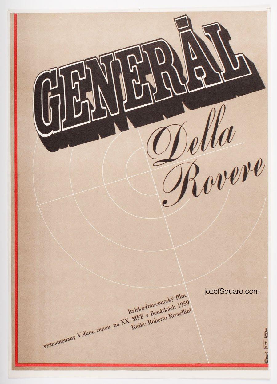 Movie Poster, General Della Rovere, Roberto Rossellini