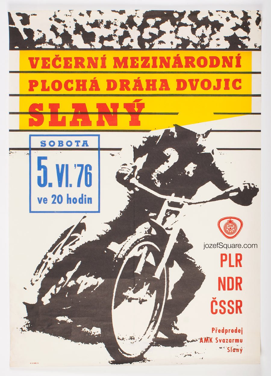 Motorcycle Racing Poster, International Flat Track Championship