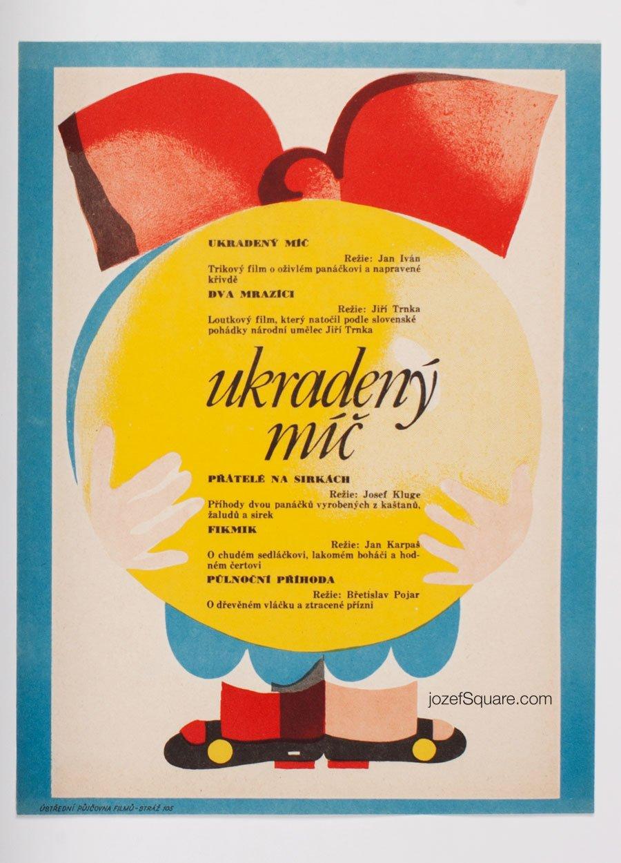 Children's Movie Poster, Stolen Ball, 70s Cinema Art