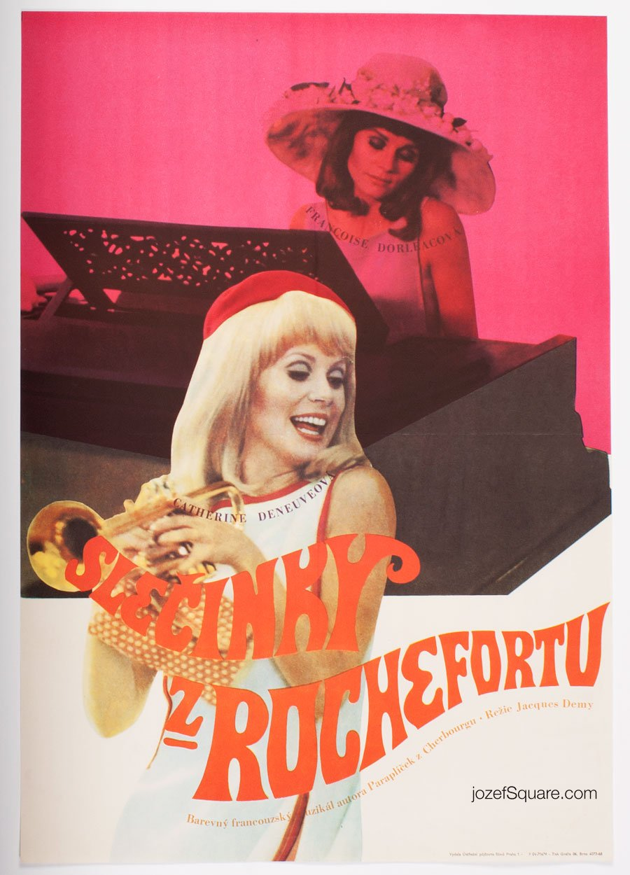 Movie Poster, Young Girls of Rochefort, Catherine Deneuve