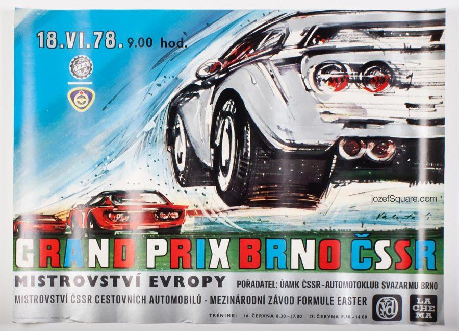 Grand Prix Brno, Racing Poster, European Championship, 1978