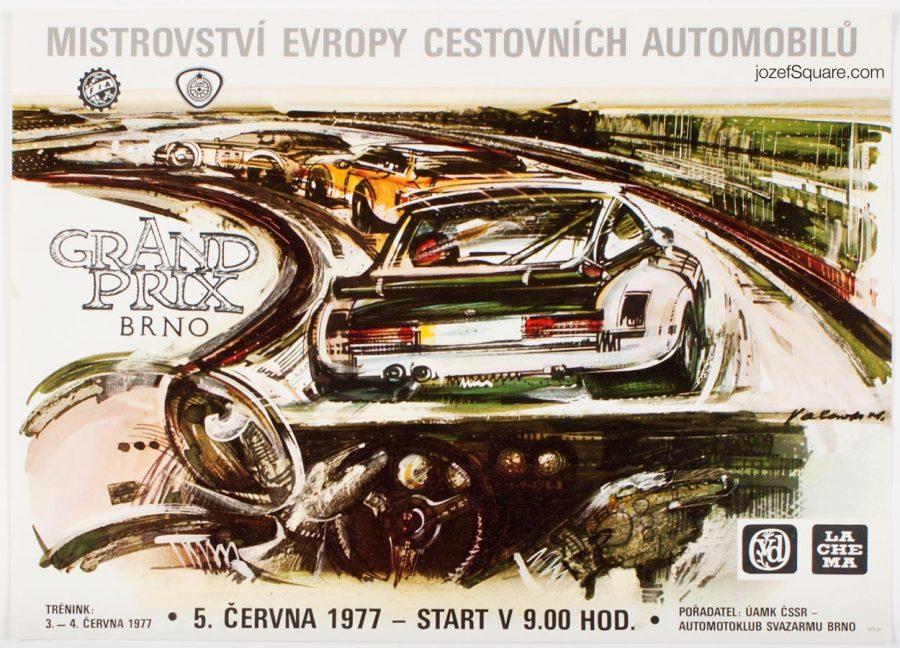 Racing Poster, European Touring Car Championship, Vladimir Valenta