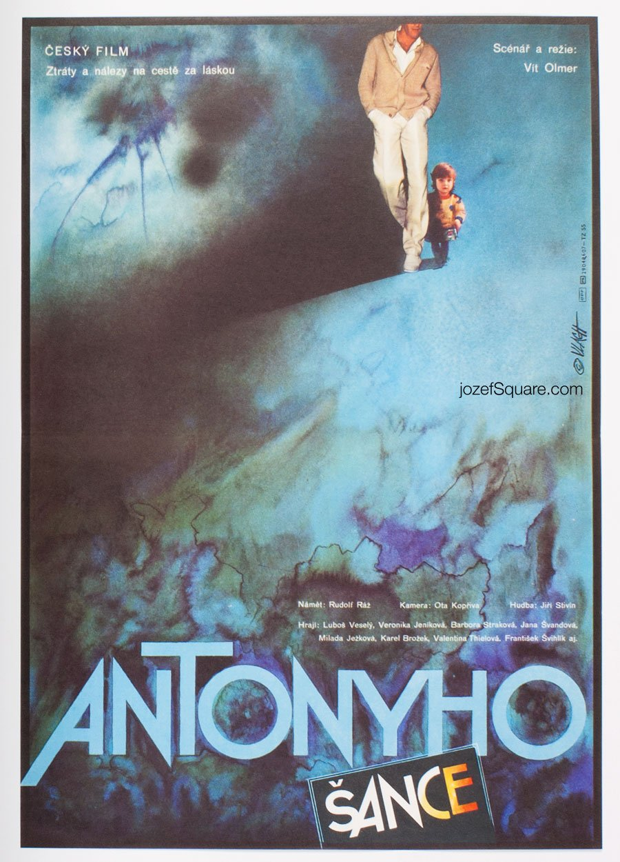 Abstract Movie Poster, Anthony's Chance, Zdenek Vlach