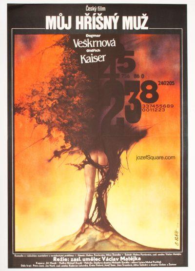 Movie Poster, My Sinful Man, Zdenek Vlach