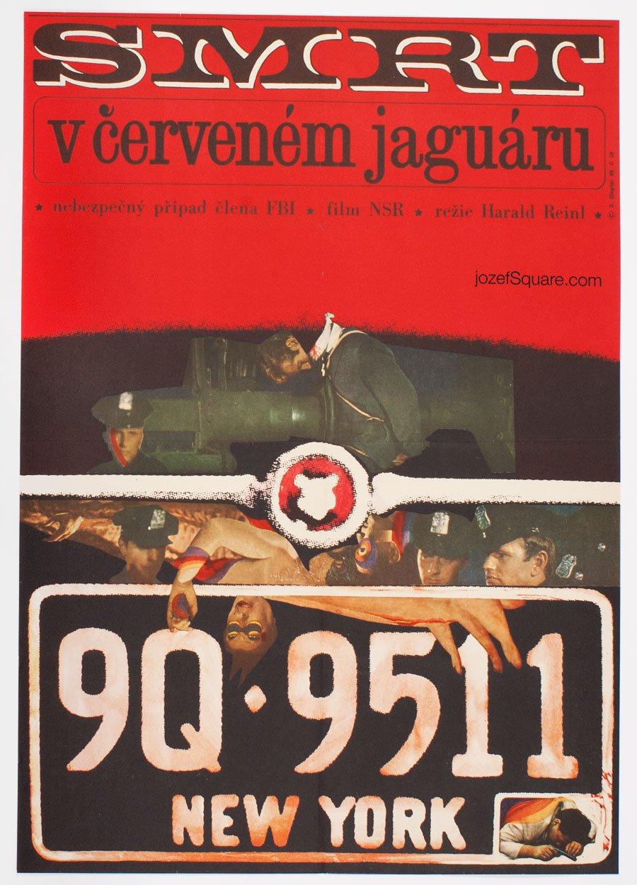 Movie Poster, Death in the Red Jaguar, Zdenek Ziegler