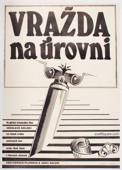 Movie Poster, Murder by Decree, Zdenek Ziegler