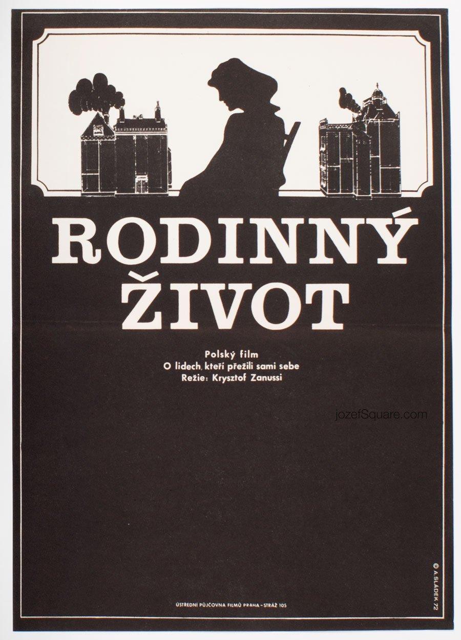 Movie Poster, Family Life, Krzysztof Zanussi, Antonin Sladek