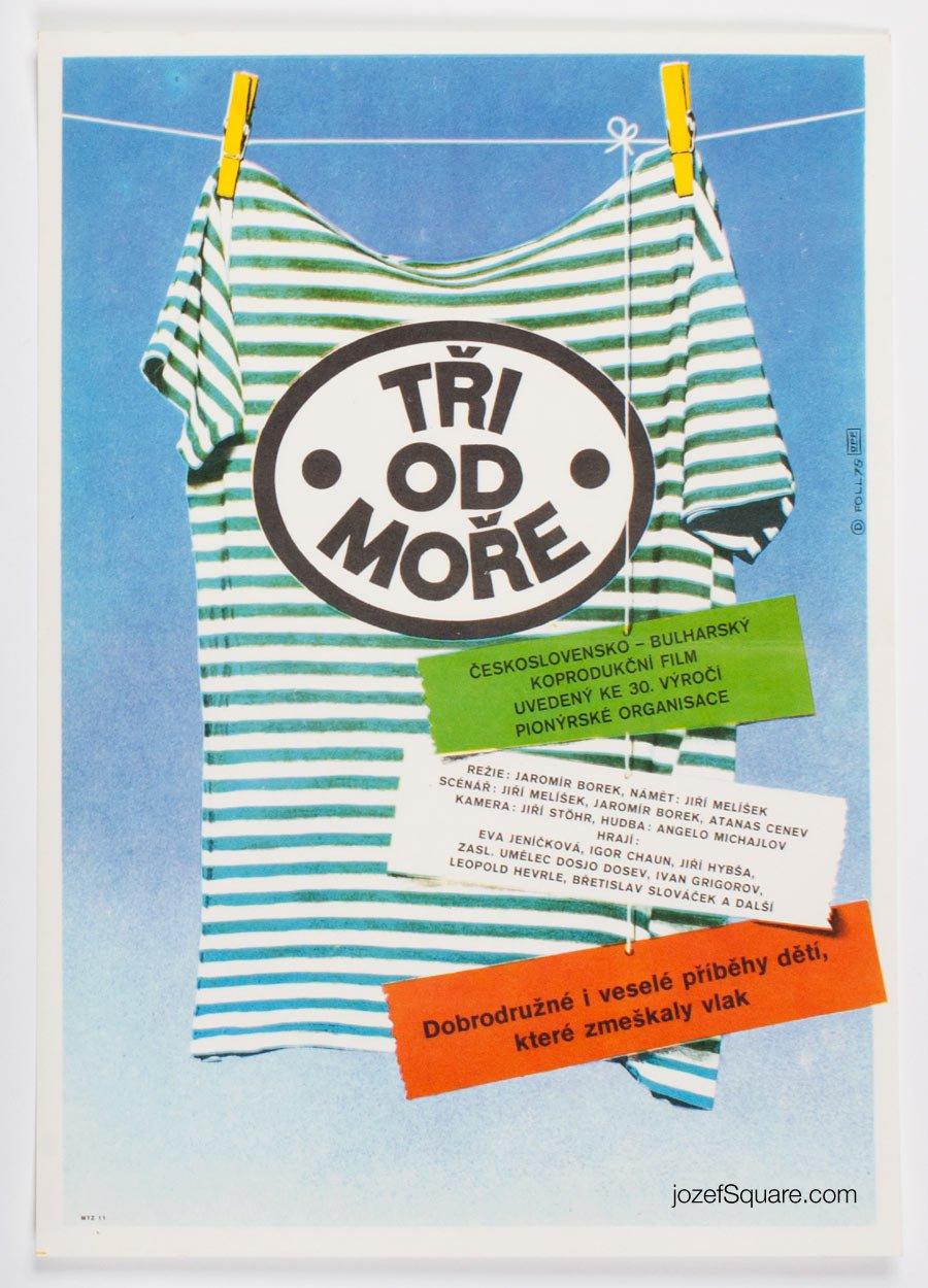 Children's Movie Poster, Three From the Seaside, Dobroslav Foll