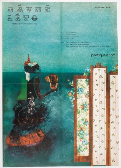 Abstract Movie poster, Summer of Old Times, Ever Alexander Pucek