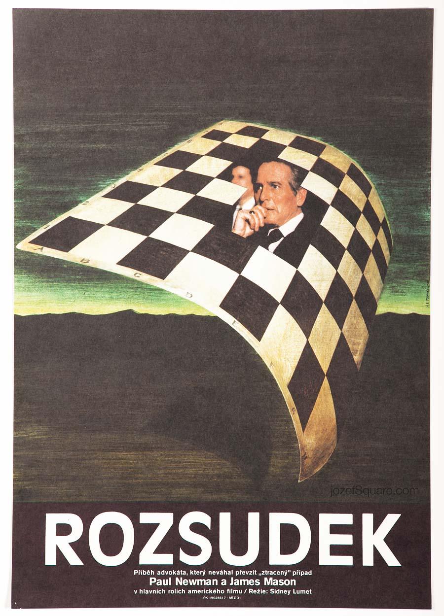 Movie Poster, Verdict, Paul Newman, Jan Tomanek
