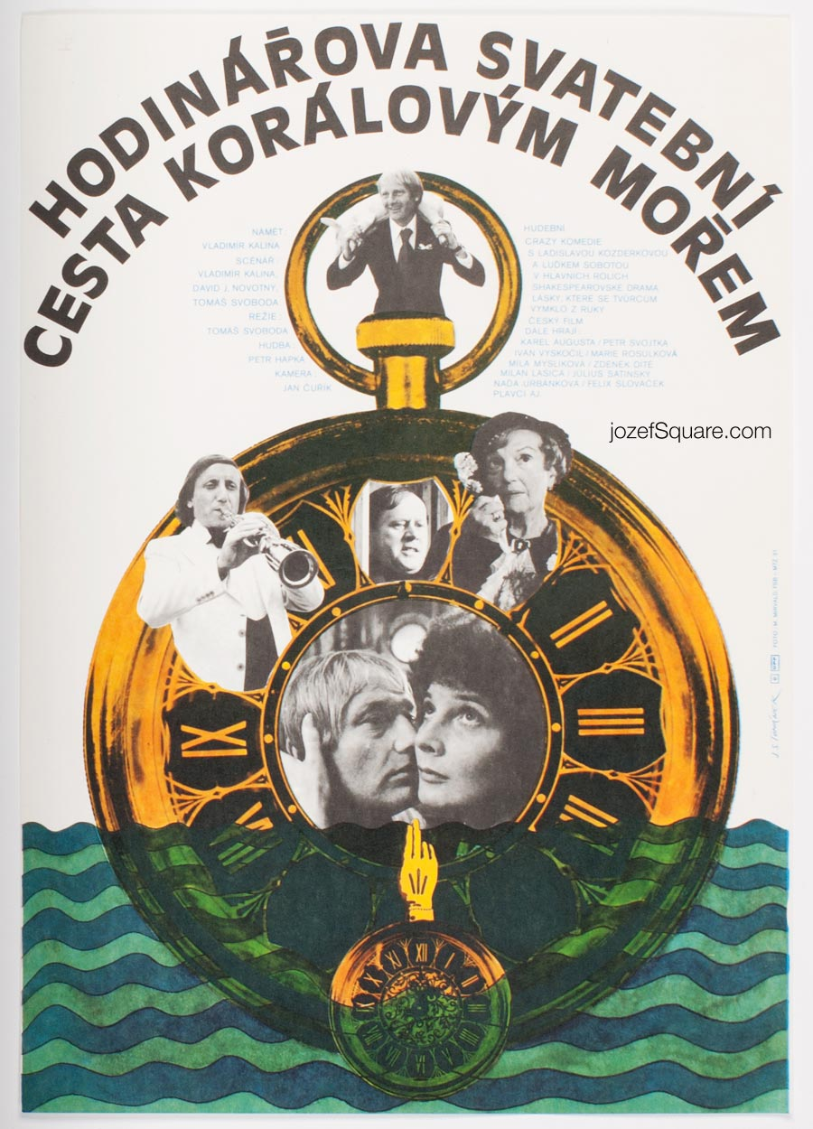 Movie Poster, Watchmaker's Wedding Trip to Coral Sea, Jan Tomanek