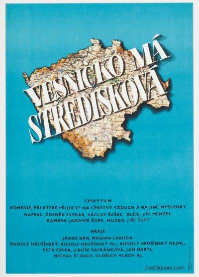 Movie Poster, My Sweet Little Village, Menzel