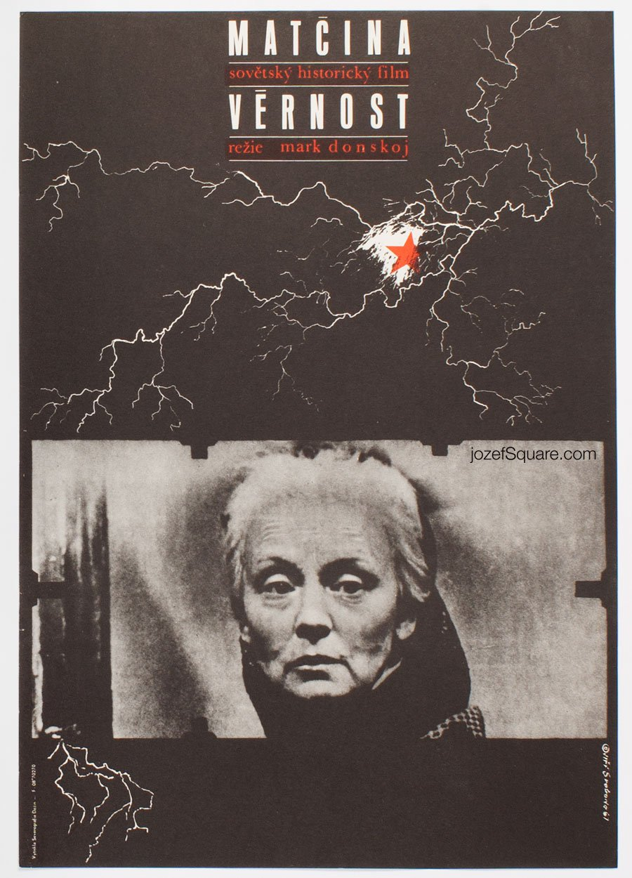 Movie Poster, Mother's Devotion, Jiri Svoboda