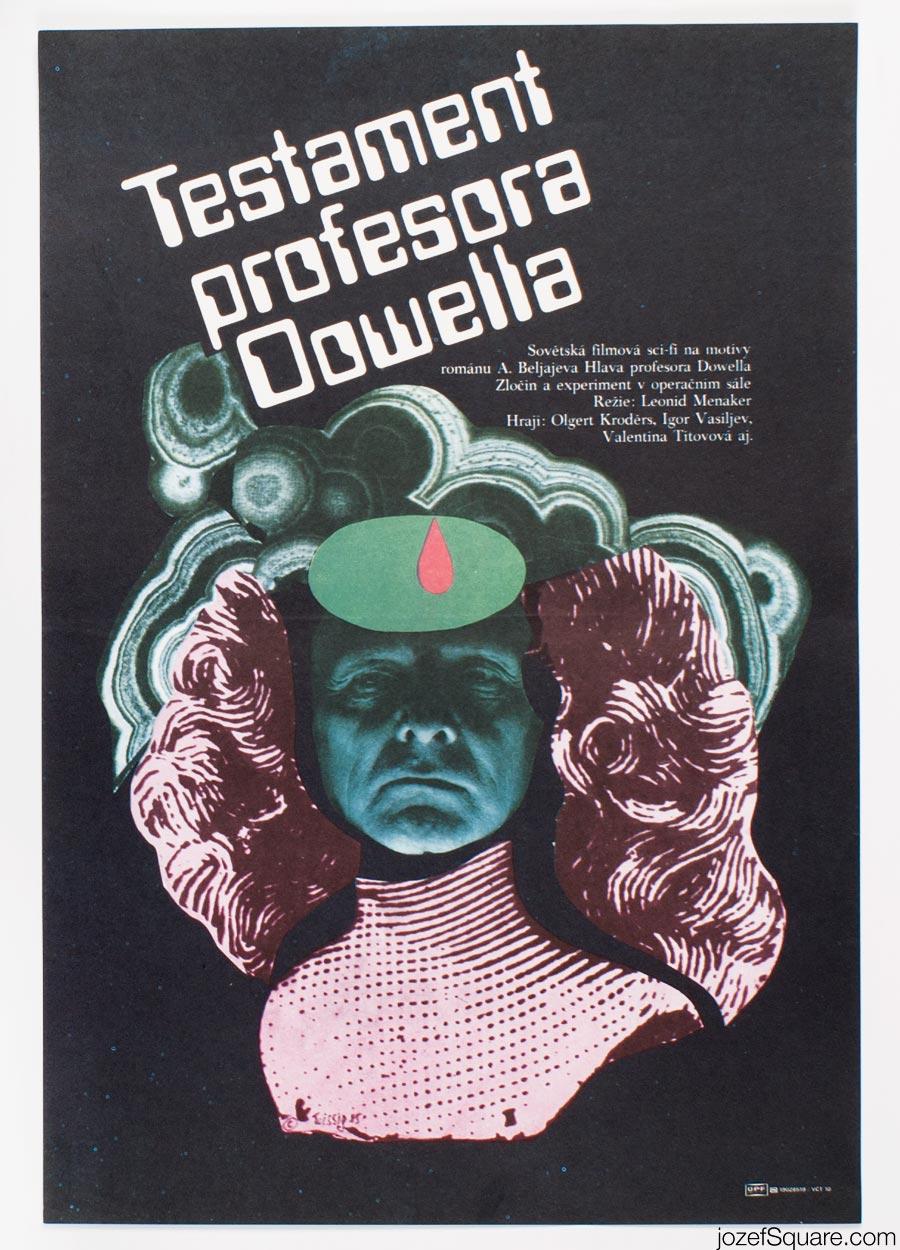 Movie Poster, Testament of Professor Dowell, Karel Teissig