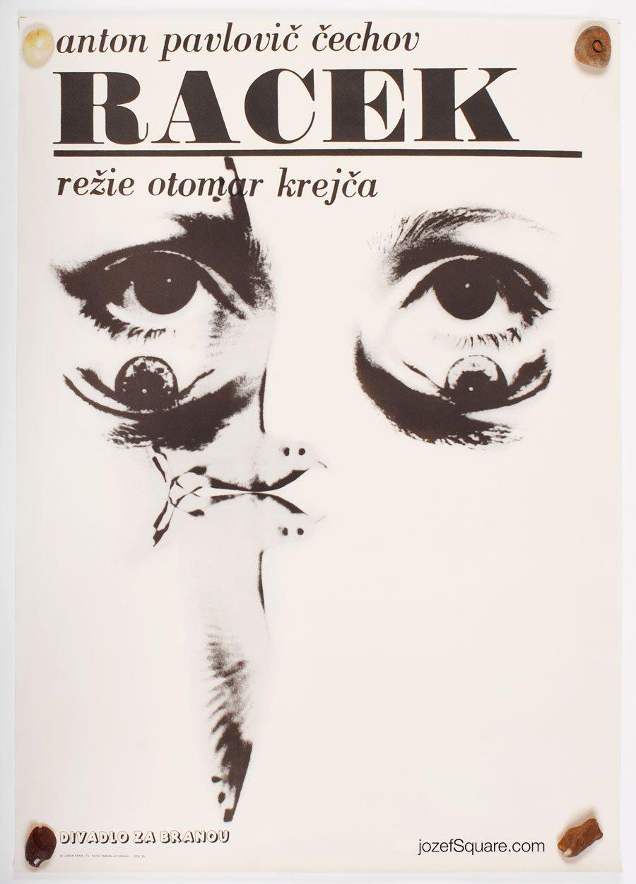 Theatre Poster, The Seagull, Anton Chekhov, Libor Fara