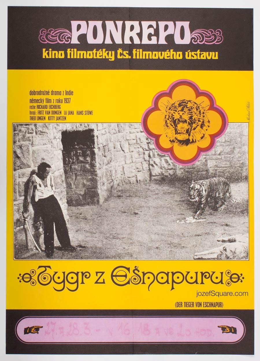 Movie Poster, Tiger of Eschnapur, Michael Sklar