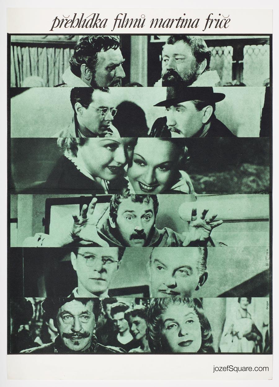 Movie Poster, Martin Frič's Films Screening, Milan Grygar