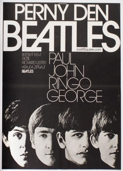 The Beatles Movie Poster, A Hard Day's Night, Pavel Jasansky
