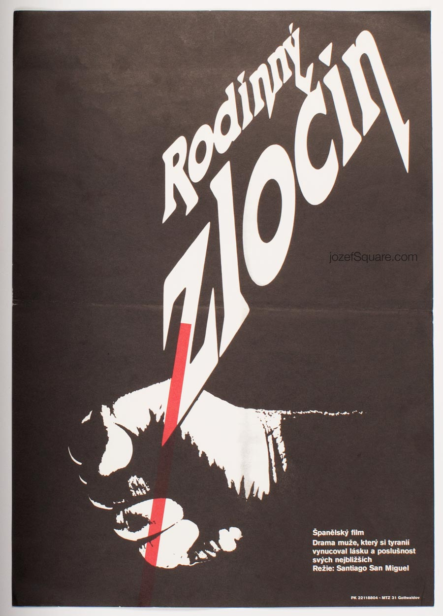 Minimalist Movie Poster, Family Crime, 80s Cinema Art