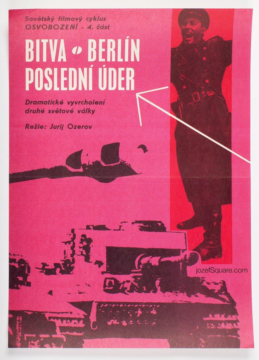 Minimalist Movie Poster, Battle of Berlin, Unknown Artist