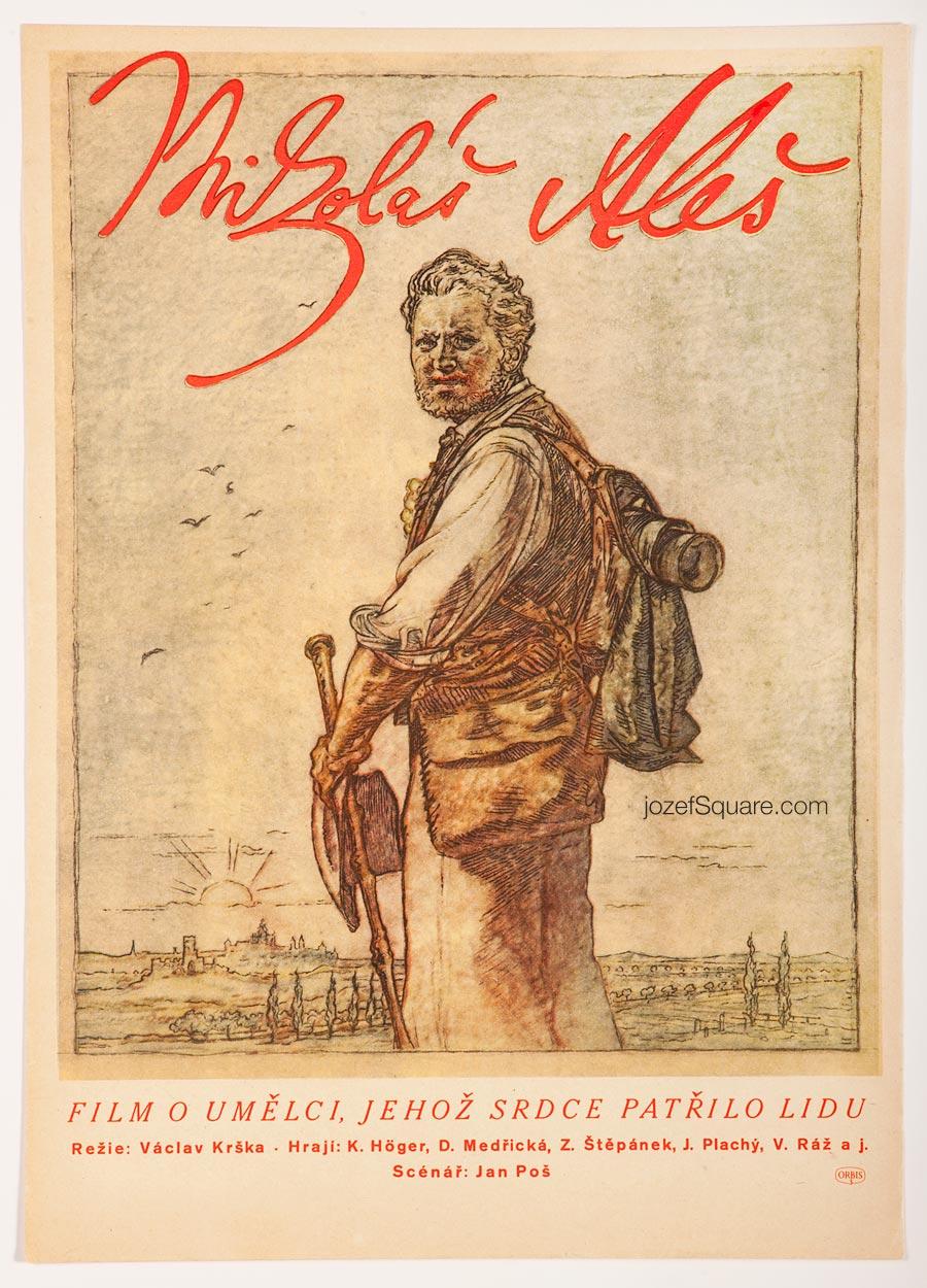 50s Movie Poster, Mikolas Ales, Unknown Artist