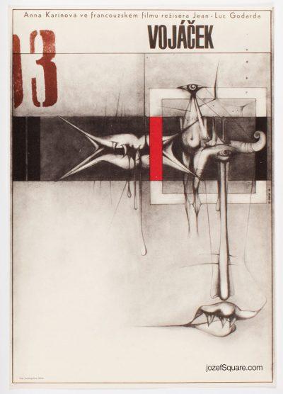 Movie Poster, The Little Soldier, Jean-Luc Godard, Zdenek Kaplan