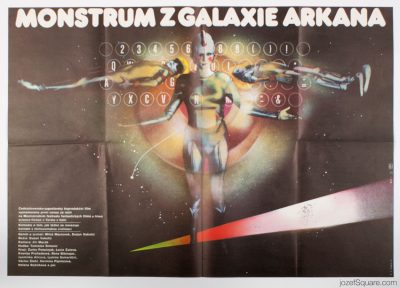 Sci-fi Movie Poster, Visitors from Arkana Galaxy, Zdenek Ziegler