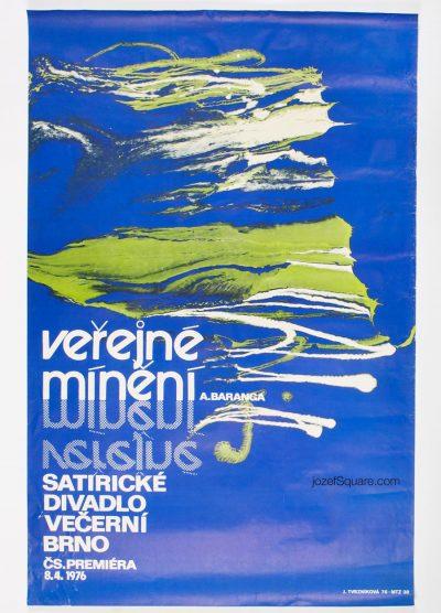 Theatre Poster, Public Opinion, Jarmila Tvrznikova