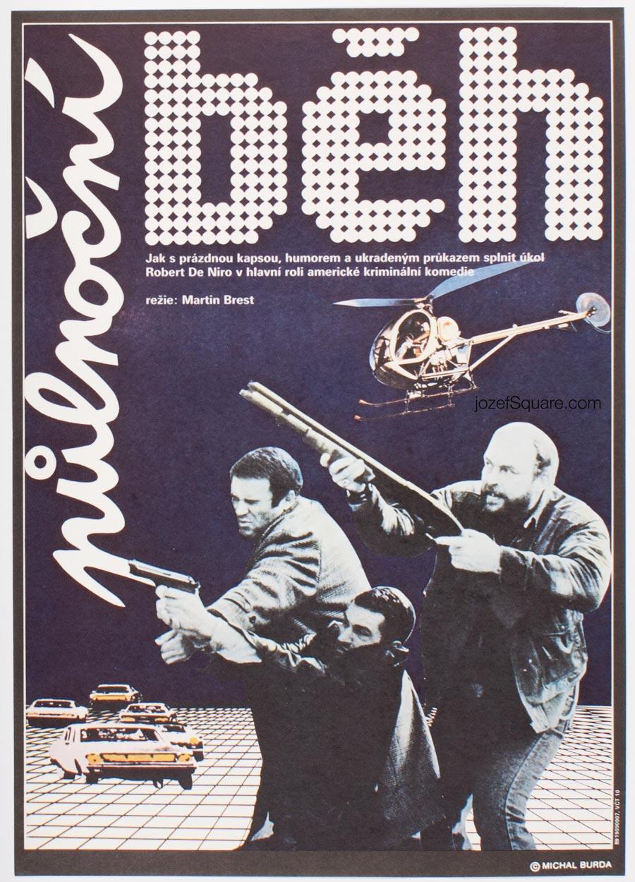 Abstract Movie Poster, Midnight Run, Robert De Niro, Michal Burda