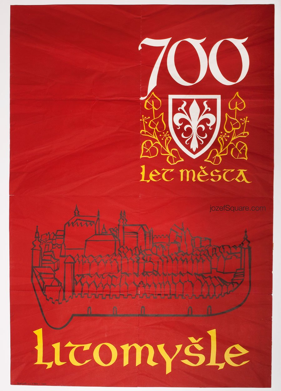 50s Exhibition Poster, 700 Years of Town of Litomysl, Unknown Artist