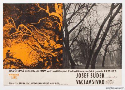 Exhibition Poster, Josef Sudek, Vaclav Sivko, 1961