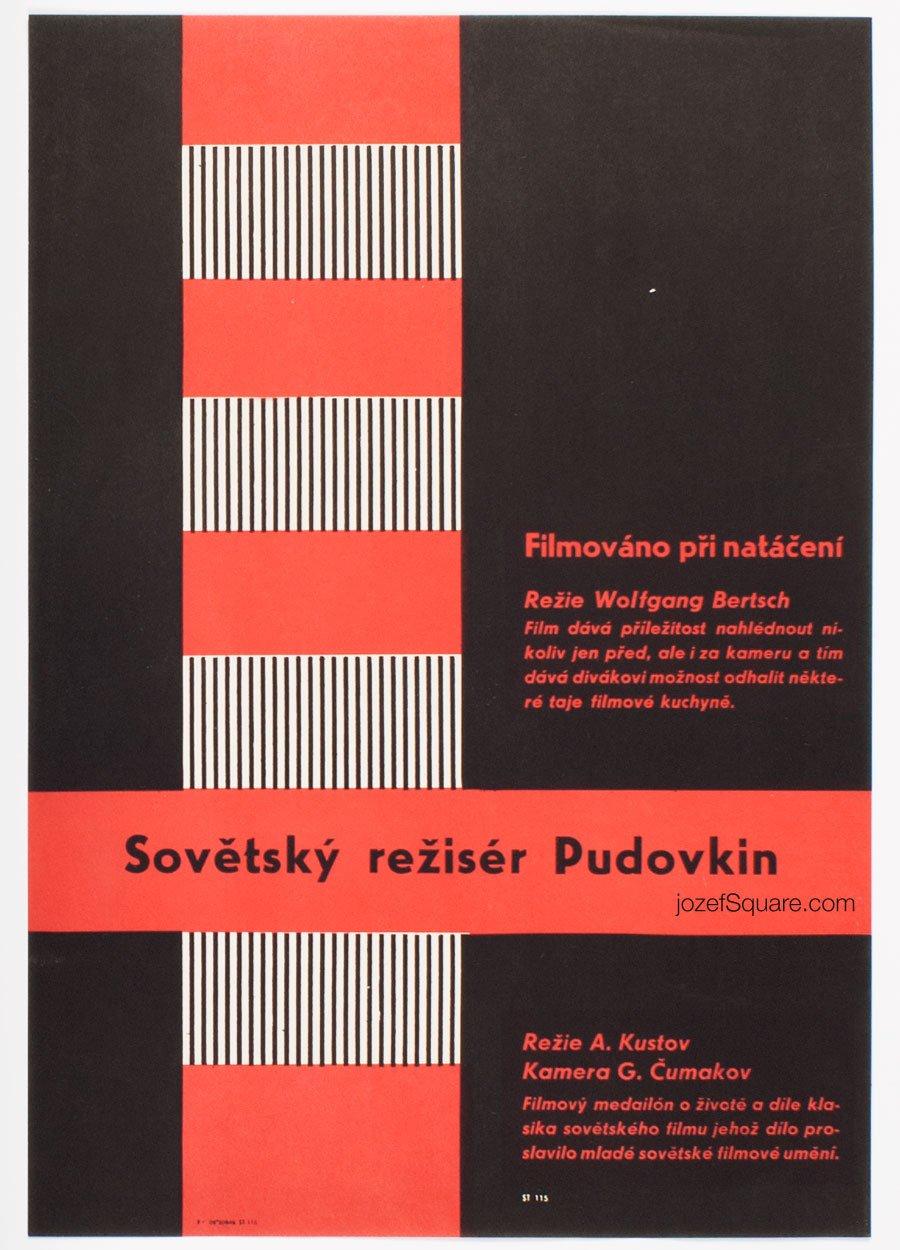 Minimalist Movie Poster, Soviet Director Pudovkin, Unknown Artist
