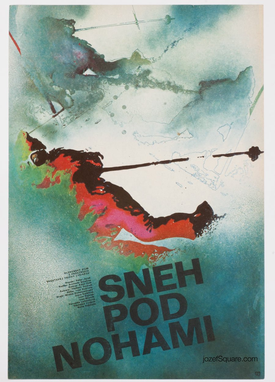Movie Poster, Snow Underfoot, Vavrek Simko