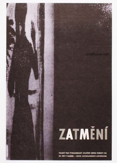 Movie Poster, The Eclipse, Michelangelo Antonioni, Vladimir Tesar
