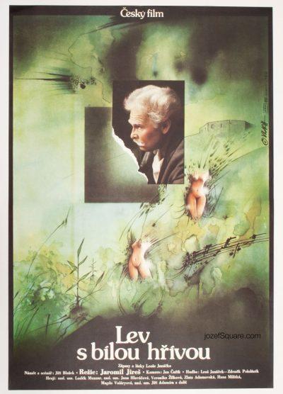Movie Poster, Lion with White Mane, Leos janacek, Zdenek Vlach