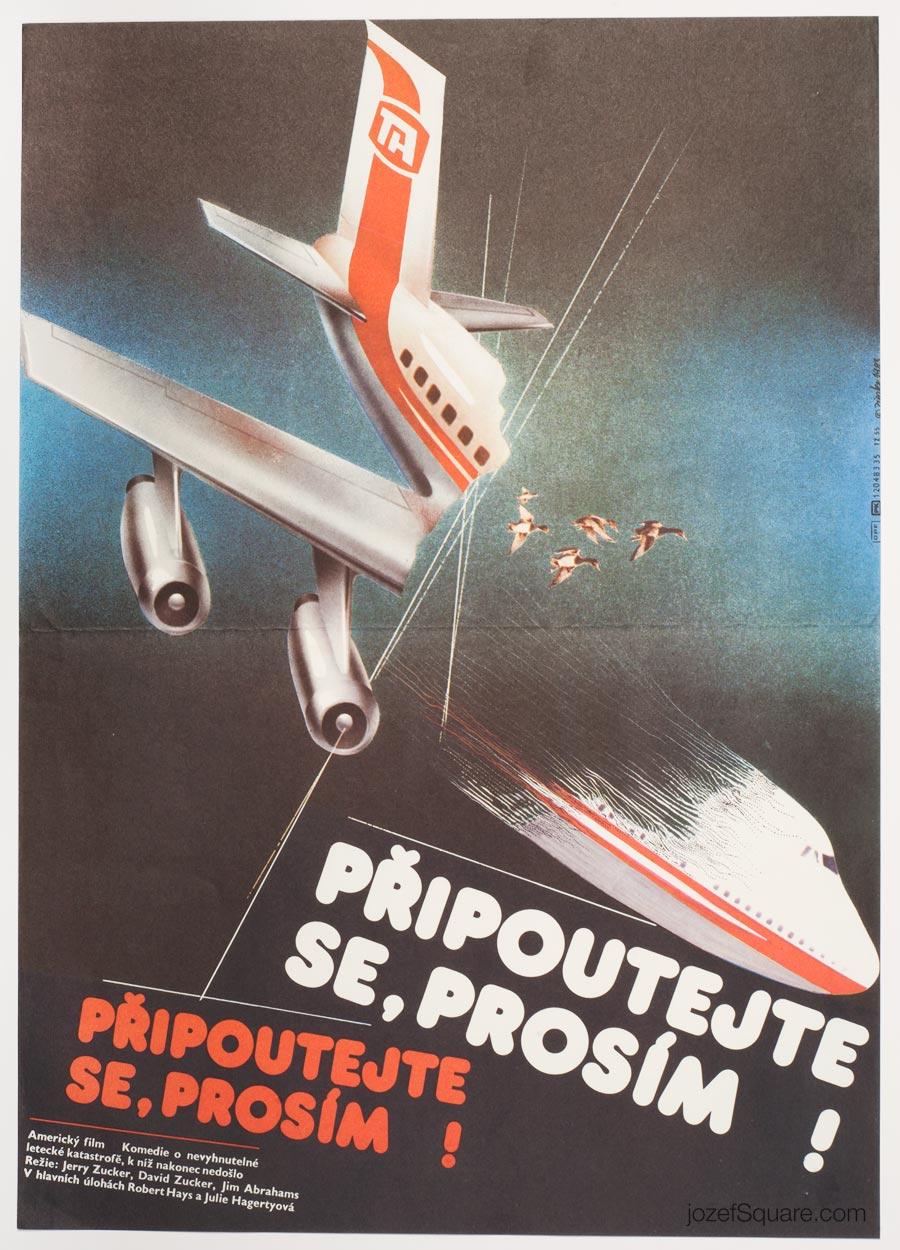 Movie Poster, Airplane, Zdenek Ziegler