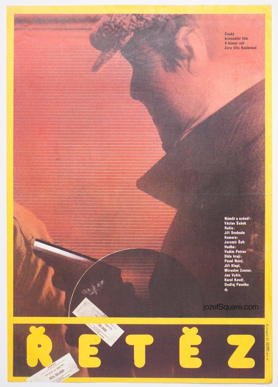 Movie Poster, Chain, Zdenek Ziegler