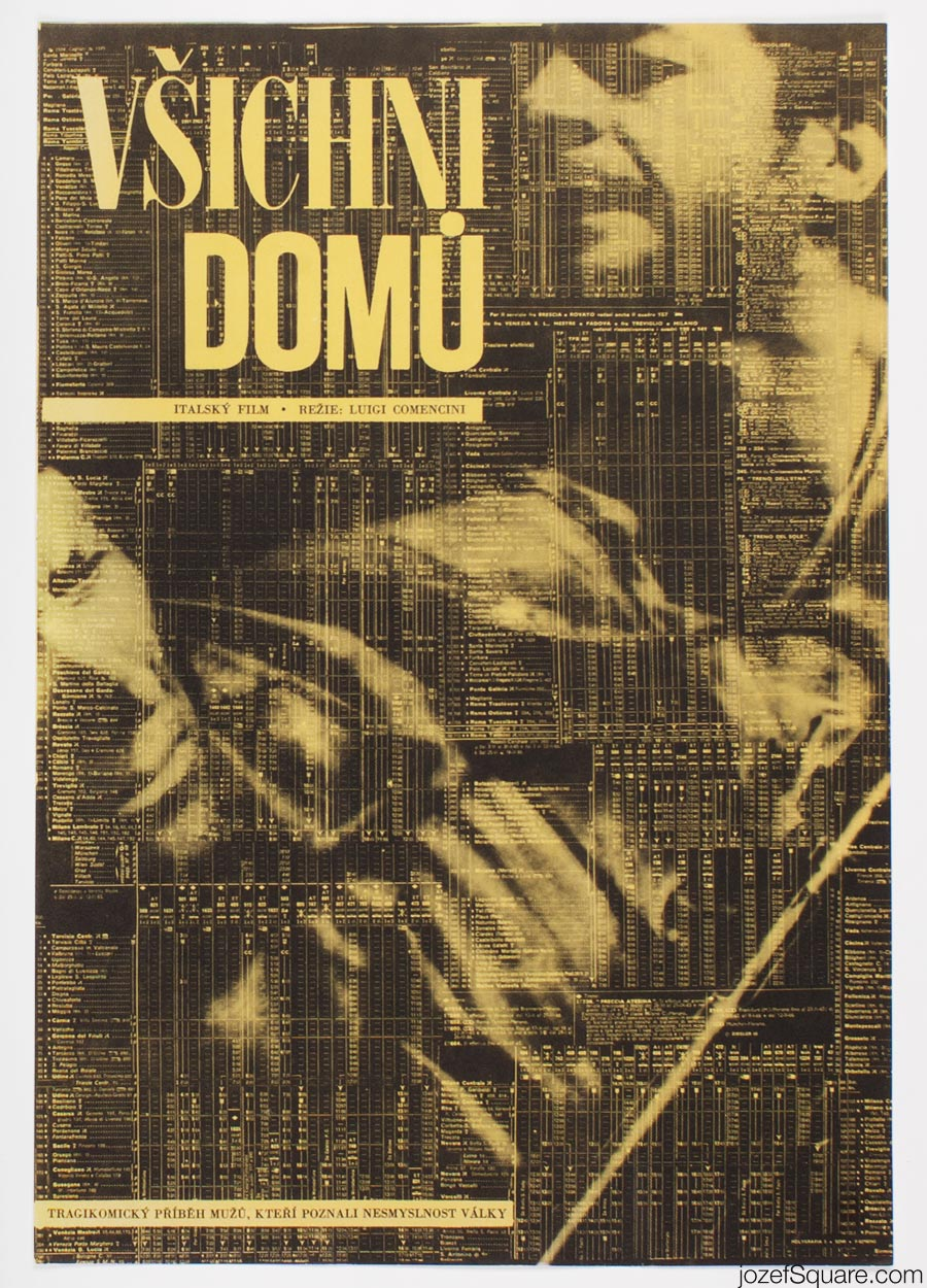 Movie Poster, Everybody Go Home, Zdenek Ziegler