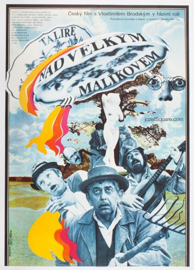 Movie Poster, Flying Saucers over our Town, Zdenek Ziegler