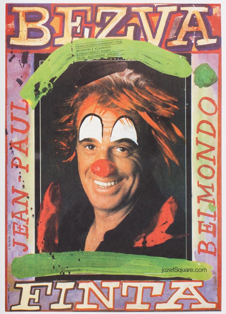 Movie Poster, Hold-Up, Belmondo, Zdenek Ziegler