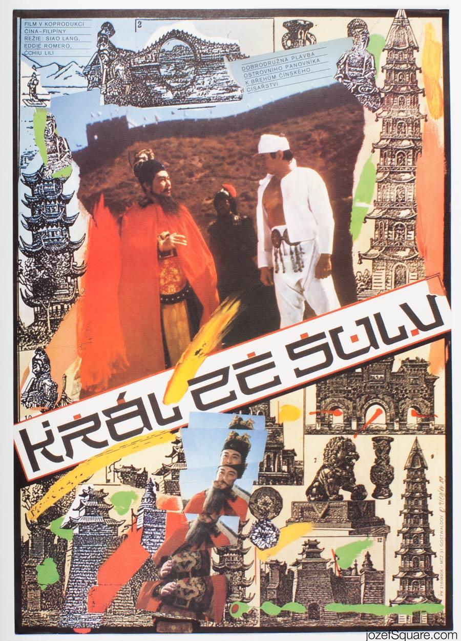 Movie Poster, King and Emperor, Zdenek Ziegler