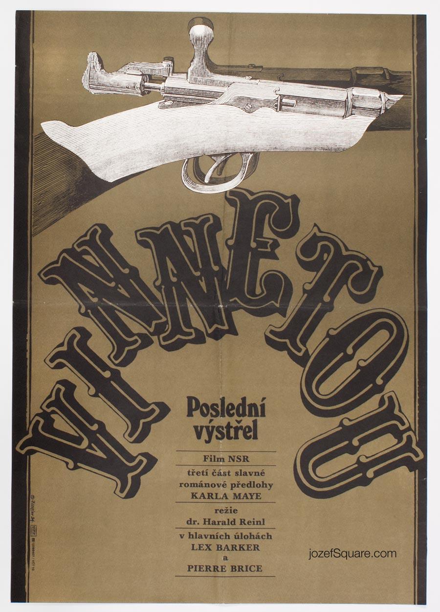 Western Movie Poster, Winnetou, Last Shot, Zdenek Ziegler